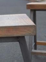 Iron Wood Triangle Stool