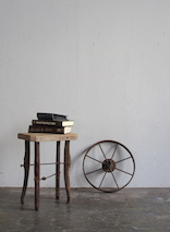Antique Saw Side Table